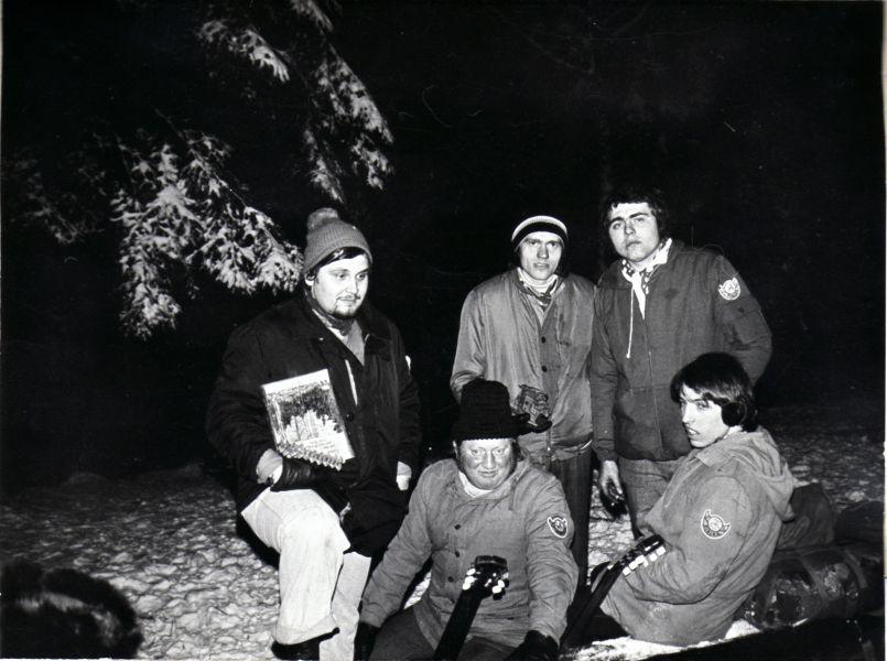 Zimní sraz na Medníku 1978